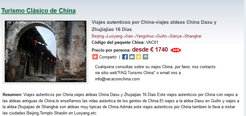 viajes autenticos por China